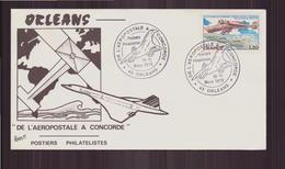 """Enveloppe Commémorative Du 11 Mars 1979 à Orléans """" De L'aéropostale à Concorde """" - Marcophilie (Lettres)"""