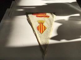 Écusson Fanion En Plastique   Blason  Roussillon  Catalan - Ecussons Tissu