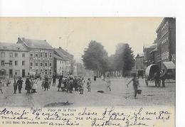 """1 Cpa Aubel. Place De La Foire. Attelage, Enfants, """"hôtel De La Place"""" - Aubel"""