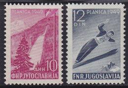 Yugoslavia 1949 Ski Jumping - Planica, MNH (**) Michel 570-571 - 1945-1992 Socialist Federal Republic Of Yugoslavia