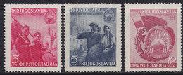 Yugoslavia 1949 Macedonia 5th Anniversary, MNH (**) Michel 572-574 - 1945-1992 Socialist Federal Republic Of Yugoslavia