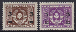 Yugoslavia 1949 Definitive With Overprint, MNH (**) Michel 581-582 - 1945-1992 Socialist Federal Republic Of Yugoslavia