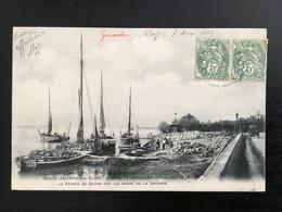 33 - ROQUE-DE-THAU Près De BLAYE - Bateaux Chargeant Des Pierres Pour La Pointe De Grave / 3301 F - Blaye