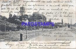 125281 ARGENTINA BUENOS AIRES BELGRANO AVENIDA VERTIZ TRANVIA TRAMWAY SPOTTED CIRCULATED TO BRAZIL POSTAL POSTCARD - Argentinien