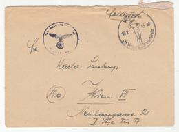Wien Die Venus Von Wels 1945 Special Postmark On Feldpost Letter Cover Posted 1945 B191201 - Germania