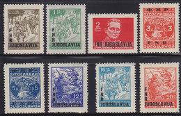 Yugoslavia 1949 Definitive Partisans With Overprint, MNH (**) Michel 590-597 - 1945-1992 Socialist Federal Republic Of Yugoslavia