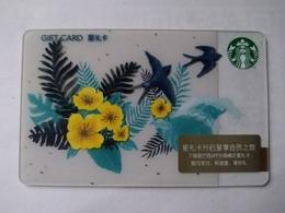 China Gift Cards, Starbucks,100 RMB, 2018 ,(1pcs) - Gift Cards