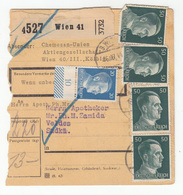 Germany Reich Parcel Card 1944 Wien To Veldes (Bled) B191201 - Germany