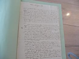Mines LAS 1813 Lavenarède à Mme Les Vans  A Propos De La Mine D'Antimoine Ardèche - Documents Historiques