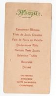 (Condom?) (.02 Gers) Menu De 1927  Avec Au Verso Poésie De Arthur Naples (natif De Condom) (PPP21179) - Menus