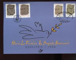 Belgie 1999 Herdenkingskaart Joint Issue Sweden Nobel Prize 2838HK OCB 8.50€ - Cartoline Commemorative