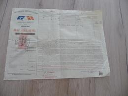 Connaissement Dampskibs Selskab Bordeau Libau Riga Reval 1899 Verdet Capres - Verkehr & Transport