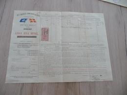 Connaissement Dampskibs Selskab Bordeau Libau Riga Reval 1900 Verdet Racines Gentiane - Verkehr & Transport