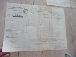 Connaissement Dampskibs Selskab Bordeau Libau Riga Reval 1900 Verdet - Verkehr & Transport