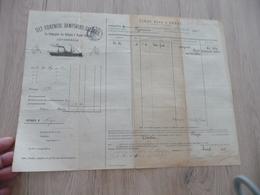 Connaissement Dampskibs Selskab Bordeau Libau Riga Reval 1901 Capres - Verkehr & Transport