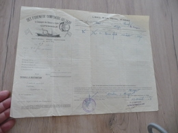 Connaissement Dampskibs Selskab Bordeau Libau Riga Reval 1913 Verdet - Transporte