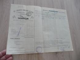 Connaissement Dampskibs Selskab Bordeau Libau Riga Reval 1911 Olives Salées - Transportmiddelen
