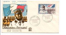 COTE DES SOMALIS FDC 1960 ADMINISTRATEUR BERNARD - Lettres & Documents