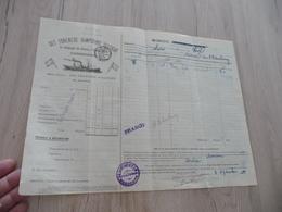 Connaissement Dampskibs Selskab Bordeau Libau Riga Reval 1911 Verdet - Transportmiddelen