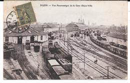 Cpa Dijon - Vue Panoramique De La Gare De Dijon - Ville . - Dijon