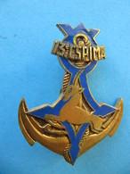 Insigne 13è CSPIMa Cie Saharienne Portée D'Infanterie De Marine DRAGO Avec Cuir - Marine