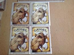 Pub Papier Tabac Cigarettes, Camel X 4 Dromadaire évolution Du Prix - Pubblicitari