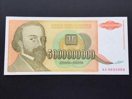 YOUGOSLAVIA P135 5 MILIARDS DINARA 1993 UNC - Joegoslavië