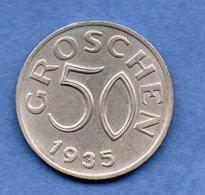 Autriche - 50 Groschen 1935   -  Km # 2854 -  état  TTB+ - Austria