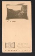 Menu Publicitaire Vierge BISCUITS OLIBET Avec Photo LES GORGES D'AUTOIRE (PPP11434) - Menus