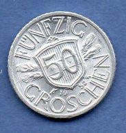 D  // Autriche - 50 Groschen 1952   -  Km # 2870 -  état  TTB+ - Austria