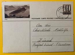 9496 -  Entier Postal Illustration Rigi Därstetten 20.03.1947 - Entiers Postaux