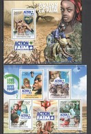 CA815 2012 CENTRAL AFRICA CENTRAFRICAINE ORGANIZATIONS ACTION AGAINST FAMINE 1KB+1BL MNH - Contro La Fame