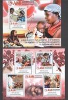 CA823 2012 CENTRAL AFRICA CENTRAFRICAINE ORGANIZATIONS AMI INTERNATIONAL MEDICAL AID VACCINATION 1KB+1BL MNH - Medizin