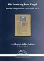 """Auktionskatalog / 2011 / Koehler-Spezialauktion """"Berliner Postgeschichte 1948-1955"""", 75 Seiten (2117-220) - Cataloghi Di Case D'aste"""