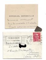 EMMANUEL  BONDEVILLE  COMPOSITEUR 1848-1987  CDV + ENVELOPPE 194? - Autogramme & Autographen