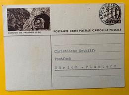 9501 -  Entier Postal Illustration Gorges De Moutier Schmerikon 26.02.1947 - Stamped Stationery