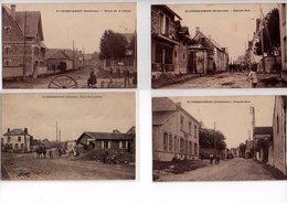 08: 4 Cpa SAINT GERMAINMONT  Route Rue  Sucrerie Animee - Andere Gemeenten