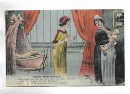 """Carte Illustrée Par A.P. JARRY. """" Propos Morvandiaux """" - Nourrice Allaitant Un Bébé. - Illustratori & Fotografie"""