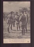 1914 LE ROI RECEVANT LES CHEFS DE LA NOUVELLE ARMEE A DROITE LE GENERAL PATORS - Guerra 1914-18