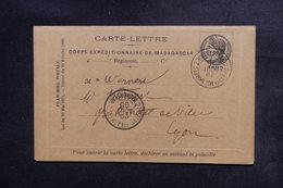 MADAGASCAR - Carte Lettre Du Corps Expéditionnaire De Madagascar Pour La France En 1895 - L 48319 - Madagascar (1889-1960)