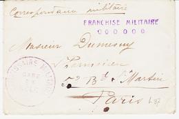 France,, Franchise  Militaire Gare De Dole , Franchise Militaire Avec 6  Zero ( Ou O )  En 14/18 TB - Militärpostmarken
