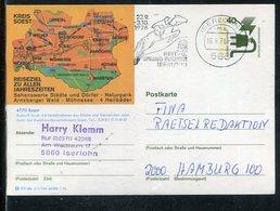 """Bundesrepublik Deutschland / 1976 / Bildpostkarte """"SOEST"""" Masch.-o Iserlohn """"Reit- Und Spring-Turnier"""" (2133) - BRD"""