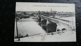 1. CROIX De VIE (Vendée) - Le Pont Reliant St-Gilles à Croix De Vie - Francia