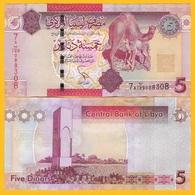 Libya 5 Dinars P-77 2011 UNC Banknote - Libya