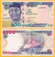 Nigeria 500 Naira P-30n 2016 UNC Banknote - Nigeria