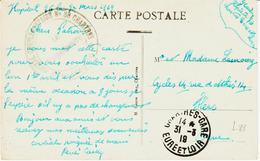 France,, Franchise  Militaire , Hopital Complémentaire N°36 De CHartres  En 1919 TB - Militärpostmarken