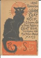 Cabaret Du Chat Noir 1896 Réouverture Avec Rodolphe Salis Steinlen Imprimeur Charles VERNEAU - Montmartre - Programs