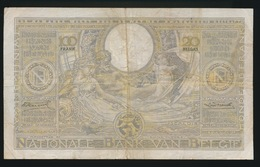 100 FRANK OF 20 BELGAS  - VERNIETIGD BILJET   2 SCANS   26.06.33 - [ 2] 1831-... : Koninkrijk België