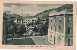 Aosta Piazza Vittorio Veneto E Giardini Pubblici Davanti Alla Stazione - Italia