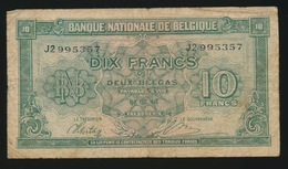 10 FRANK 2 BELGAS  01 02 43  2 SCANS - 10 Francs-2 Belgas